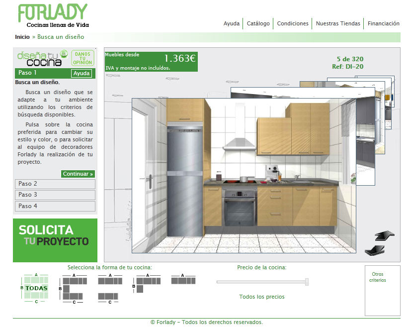 Kitchen Planner 3D. Online 3D Kitchen Planner